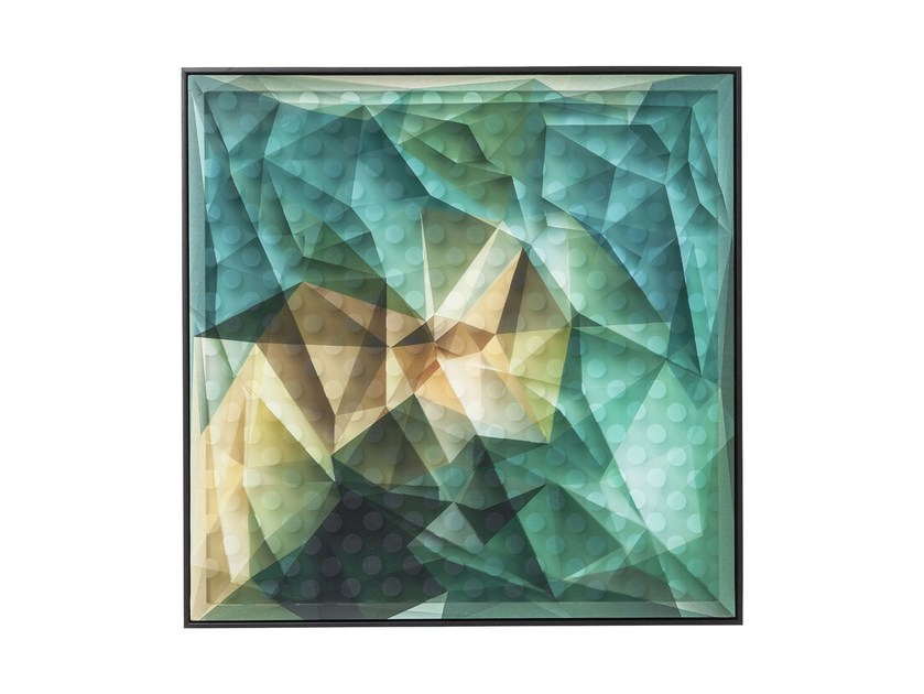 Print on paper ART 3D ABSTRACT BLUE by KARE-DESIGN