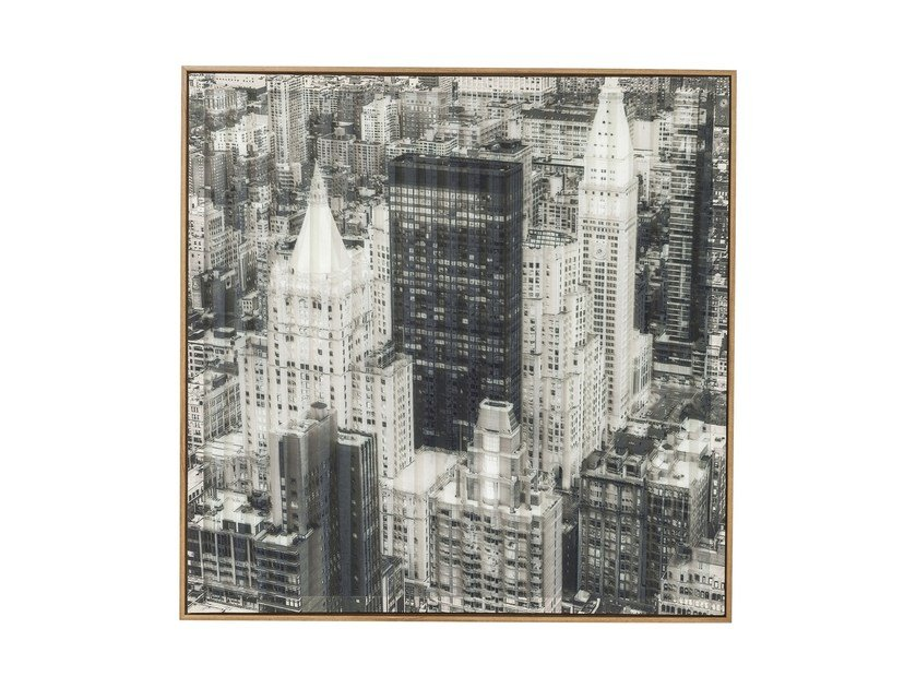 Print on paper ART 3D CITY VIEW THREE by KARE-DESIGN