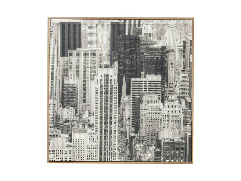 Print on paper ART 3D CITY VIEW TWO by KARE-DESIGN