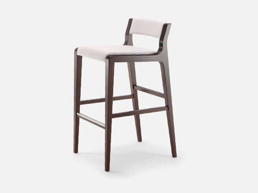 High fabric stool with footrest ARTÙ | Stool by Cizeta L'Abbate