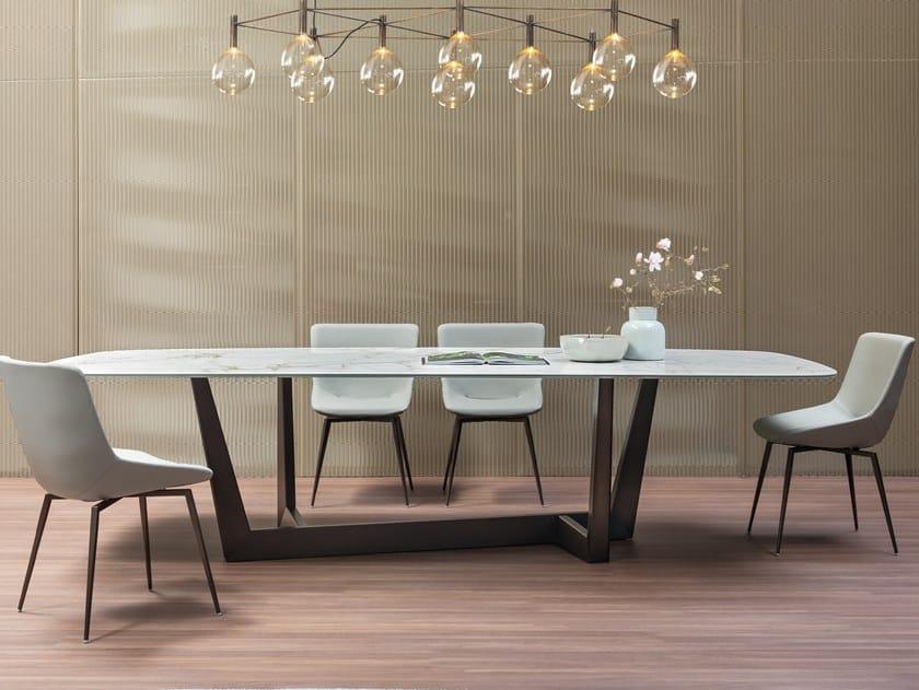 Tavolo rettangolare in ceramica ART | Tavolo in ceramica by Bonaldo