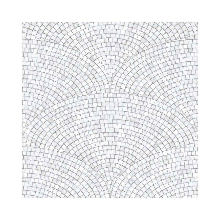 ART DECO MOSAIC LIGHT GREY | Carta da parati