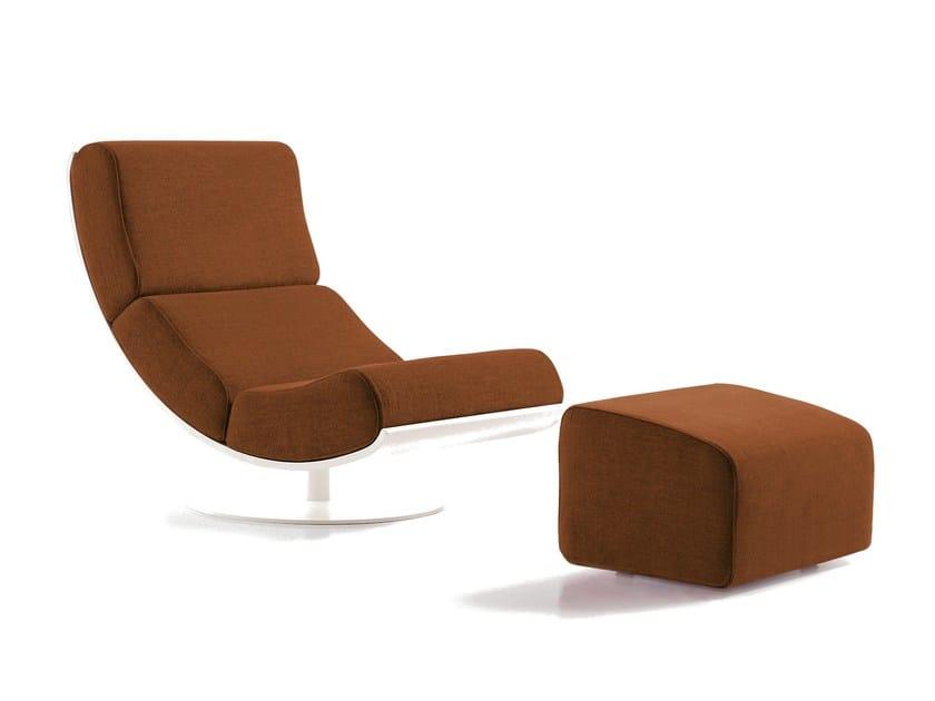 Upholstered fabric armchair ART | Fabric armchair by Sancal