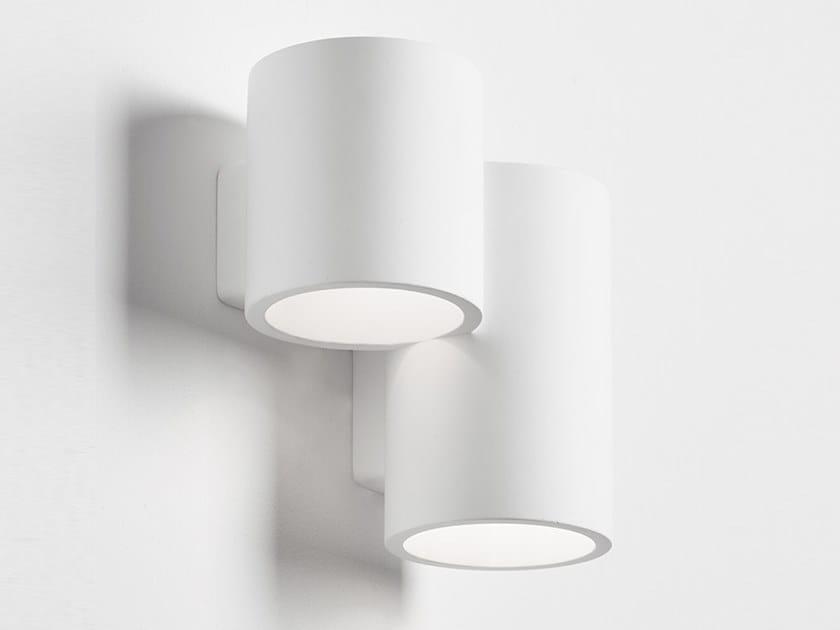 Direct-indirect light gypsum wall light ARTA by Sforzin