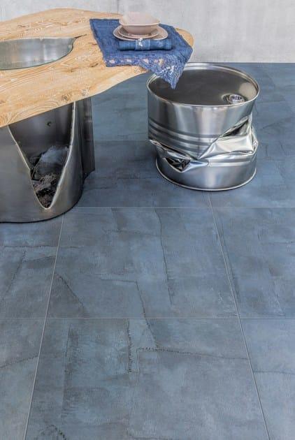 Pavimento/rivestimento in gres porcellanato effetto tessuto ARTE ...