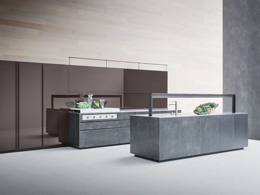 Artematica Structured Lacquer Steel ARTEMATICA - STRUCTURED LACQUER STEEL by VALCUCINE