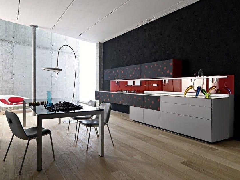 Einbauküche aus dekoriertem Glas ARTEMATICA VITRUM ARTE POP ...
