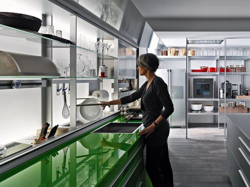 Einbauküche aus Glas ARTEMATICA VITRUM - GREEN GRASS Linie ...