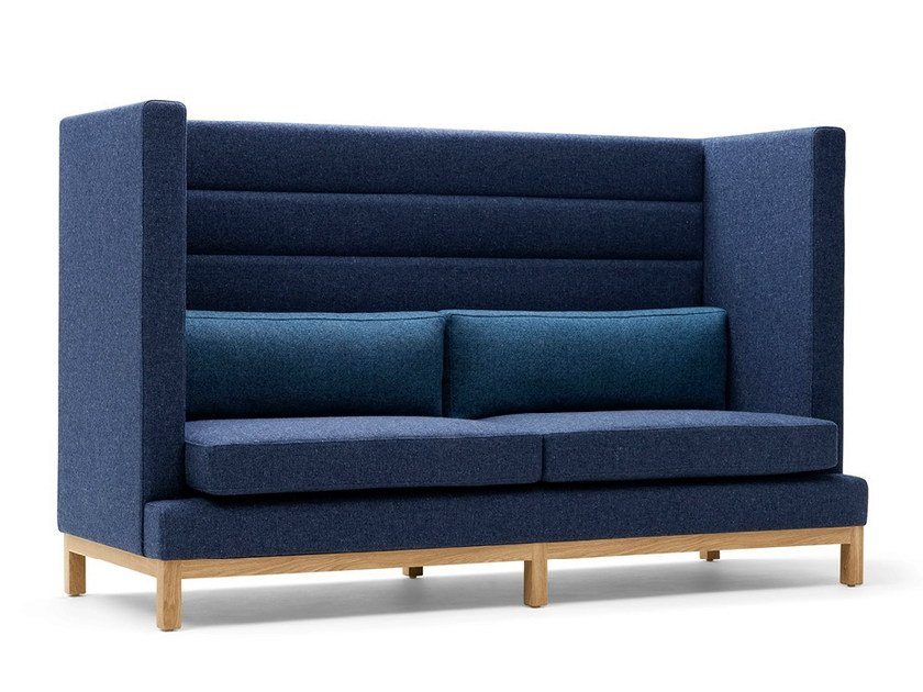 Upholstered 2 seater high-back sofa ARTHUR | 2 seater sofa by Boss Design