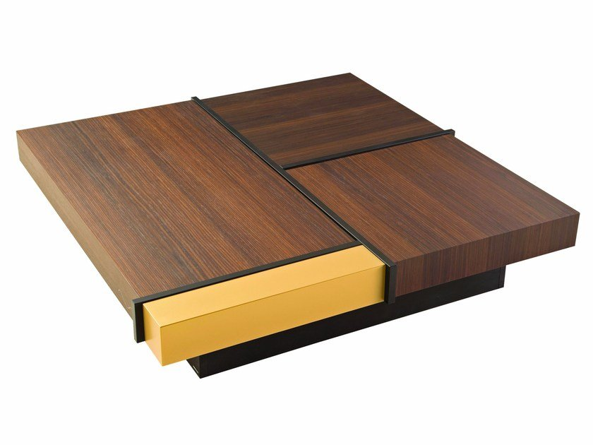 Square coffee table with storage space ARTHUR by ROCHE BOBOIS