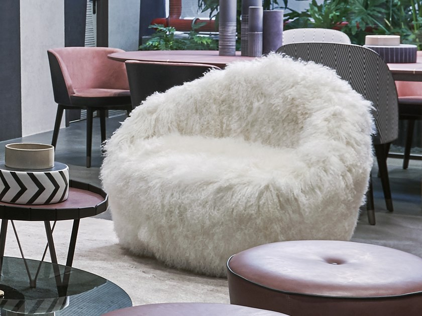 Fabric armchair ARTIK by BAXTER