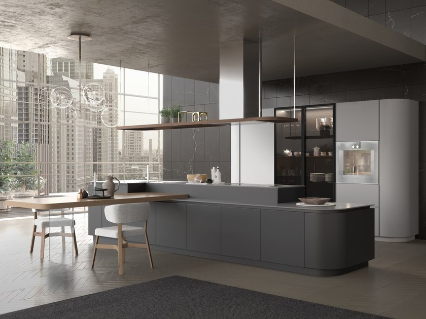 Artika kitchen with island by pedini