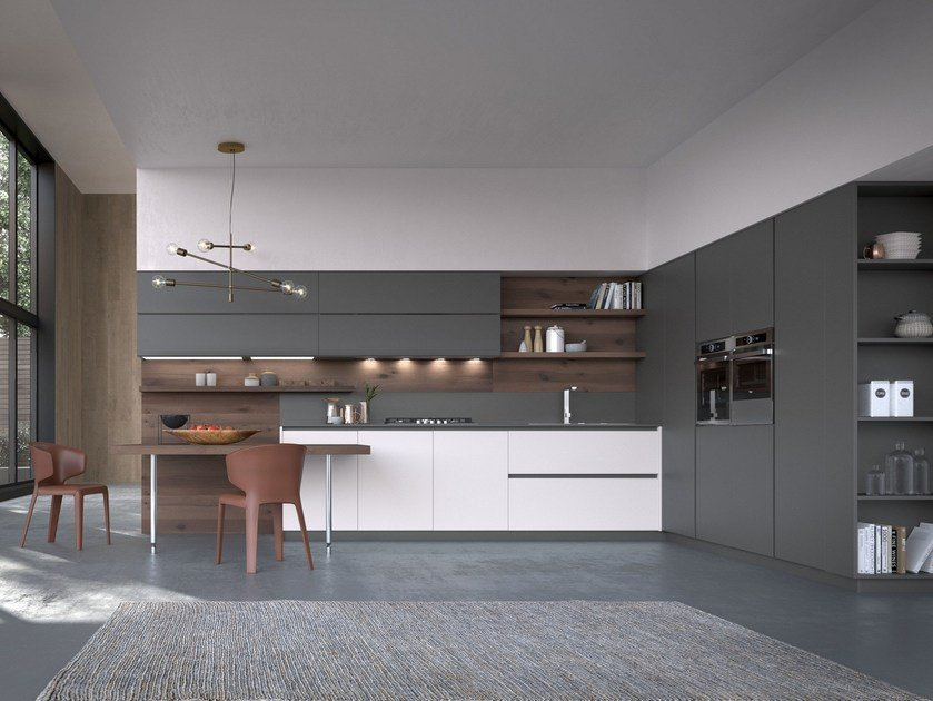 Charmant Lacquered Linear Kitchen With Integrated Handles ARTIKA | Linear Kitchen By  Pedini