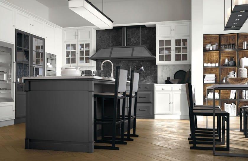 Cucina componibile in stile moderno con isola con maniglie Artis ...