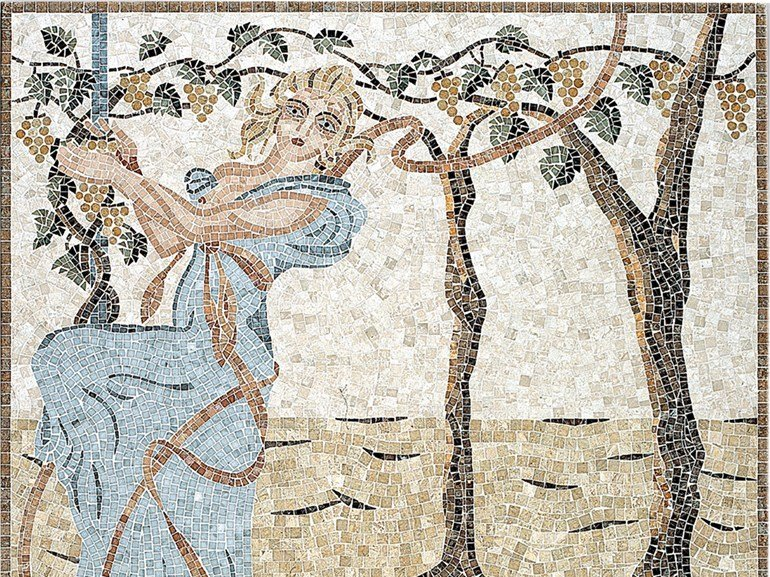 Marble mosaic ARTISTIC CONTEMPORARY - AUTUNNO by Lithos Mosaico Italia