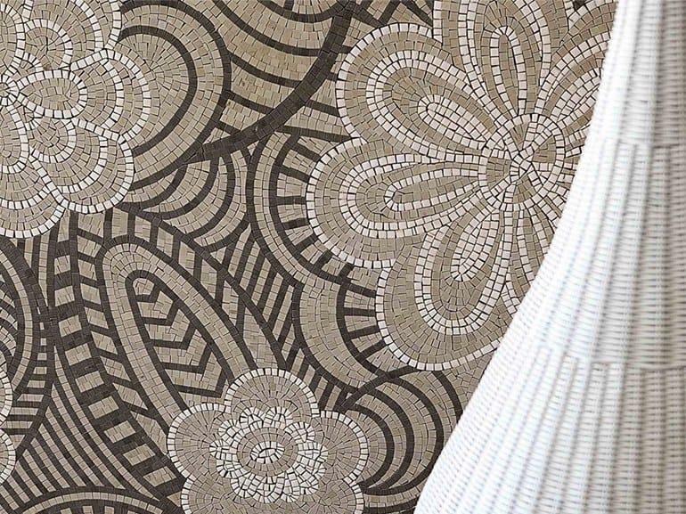 Marble mosaic ARTISTIC CONTEMPORARY - DREAMS CARAMEL by Lithos Mosaico Italia