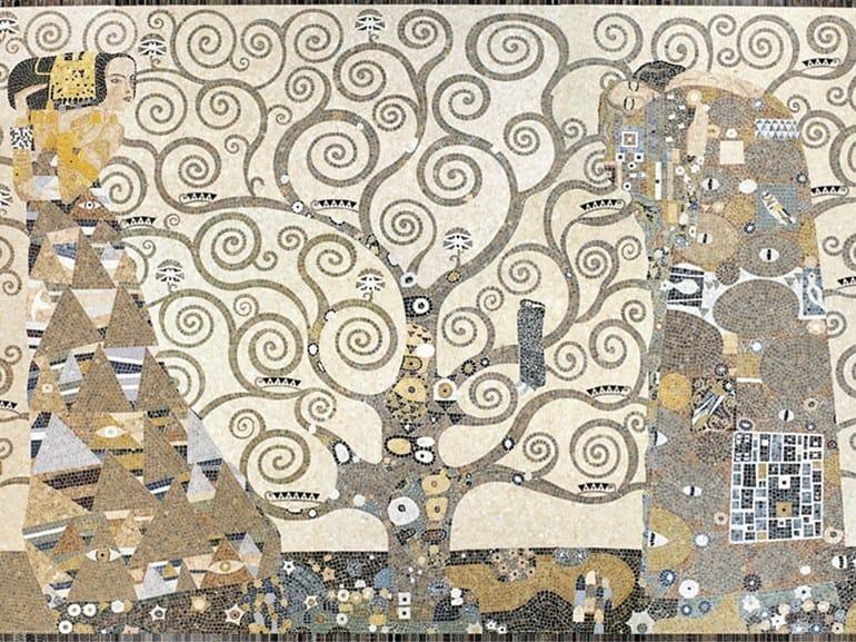 Marble mosaic ARTISTIC CONTEMPORARY - OMAGGIO A KLIMT by Lithos Mosaico Italia