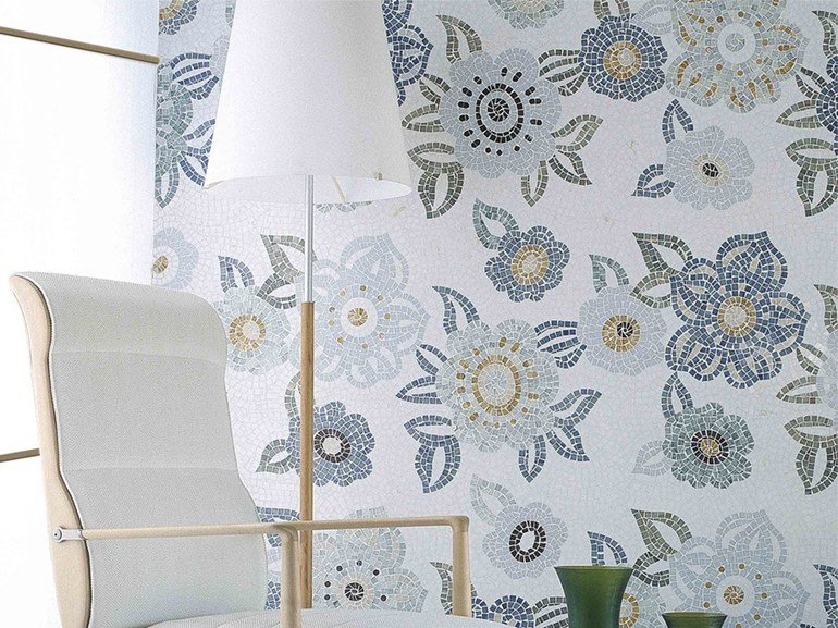 Marble mosaic ARTISTIC CONTEMPORAY - FLOWERS by Lithos Mosaico Italia