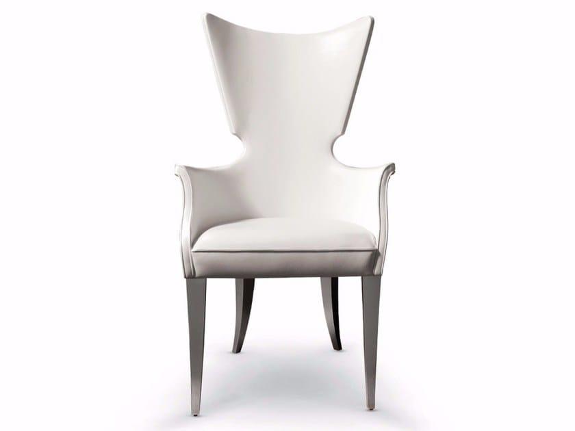 Sedia imbottita in pelle con schienale alto artu cpt sedia