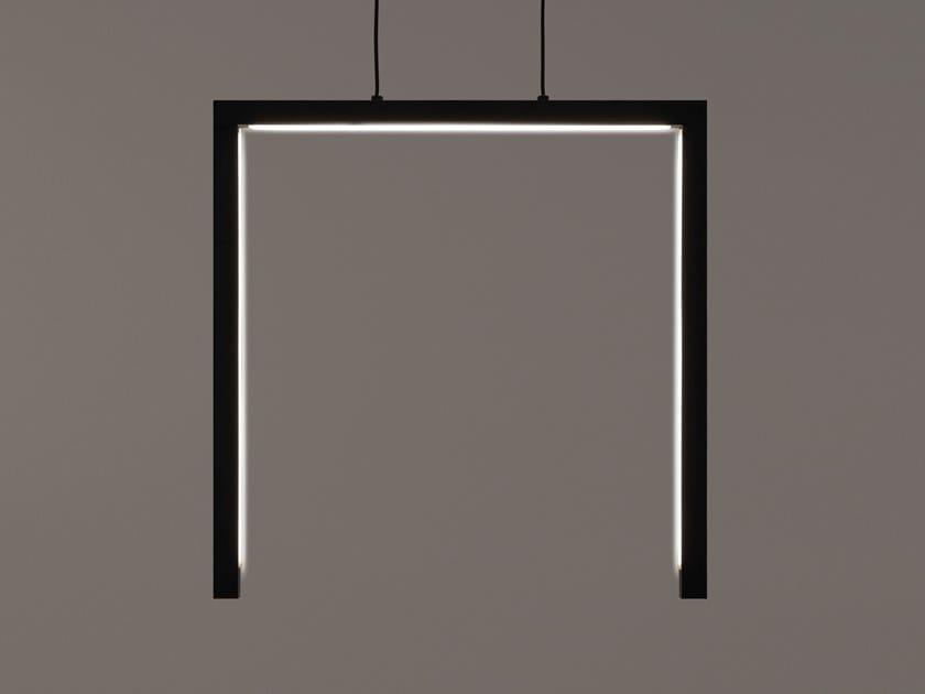 LED direct light metal pendant lamp ARTYS H3 L by ILFARI