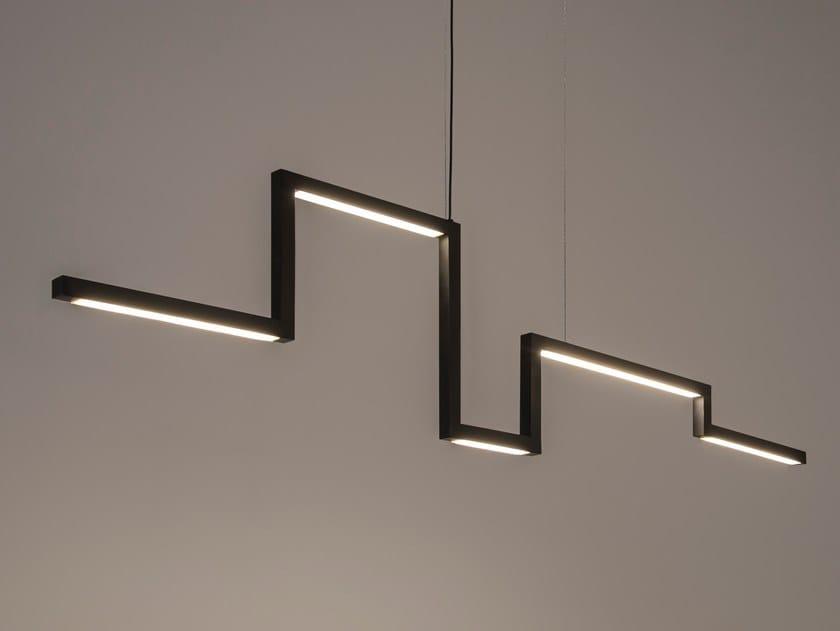 LED direct light metal pendant lamp ARTYS H5 by ILFARI