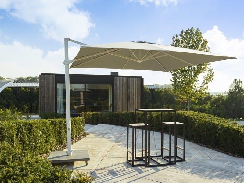 Square offset Olefin fiber Garden umbrella ARUBA by Jardinico