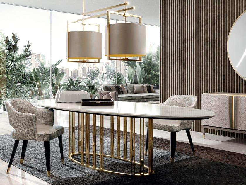 Tavolo ovale in marmo ASCOT by Valderamobili
