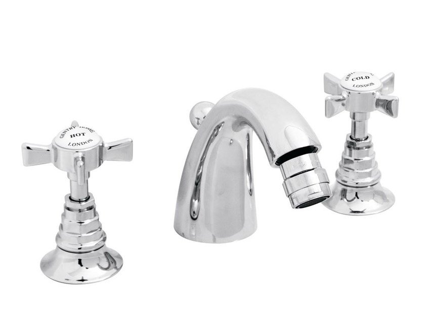 3 hole chrome-plated countertop bidet tap ASCOT | 3 hole bidet tap by GENTRY HOME