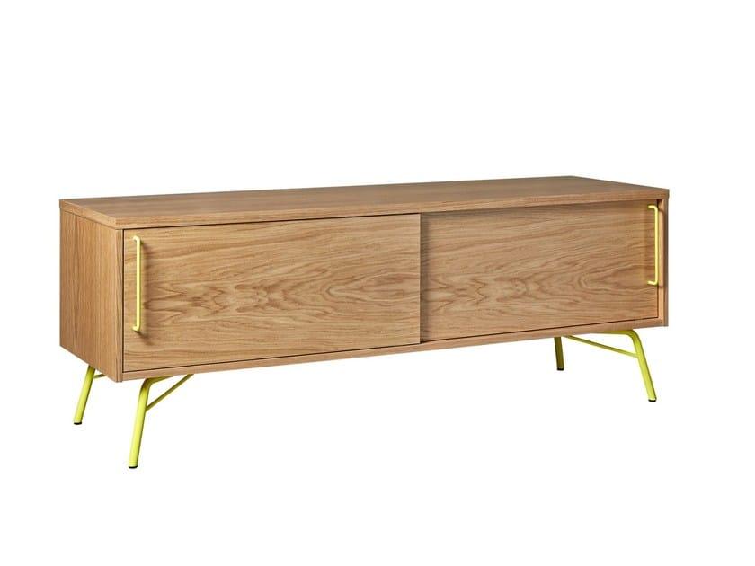 Wood veneer TV cabinet / sideboard ASHBURN   TV cabinet by Woodman