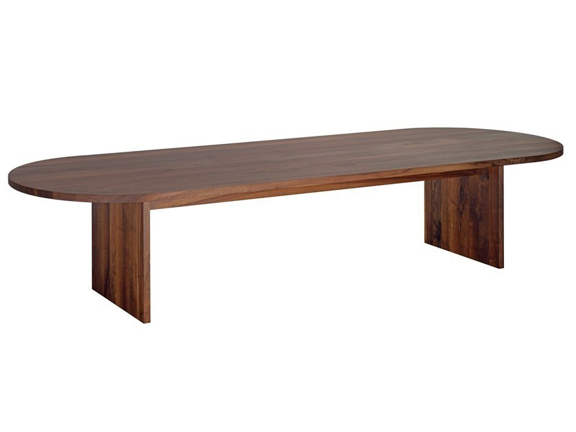 Oval solid wood table ASHIDA   Oval table by e15