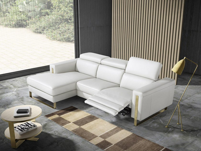 2 seater sofa with chaise longue ASHLEY by Egoitaliano