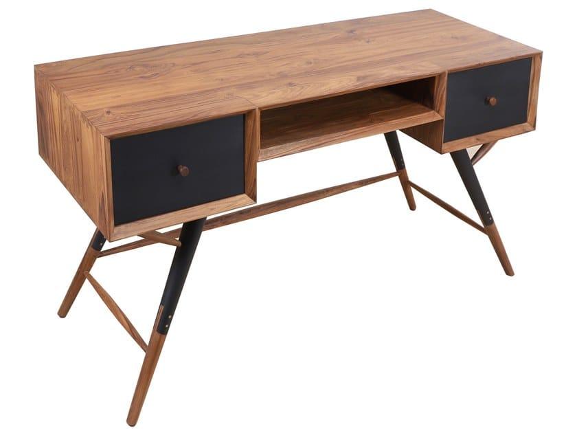 Wooden secretary desk with drawers ASHRI by ALANKARAM