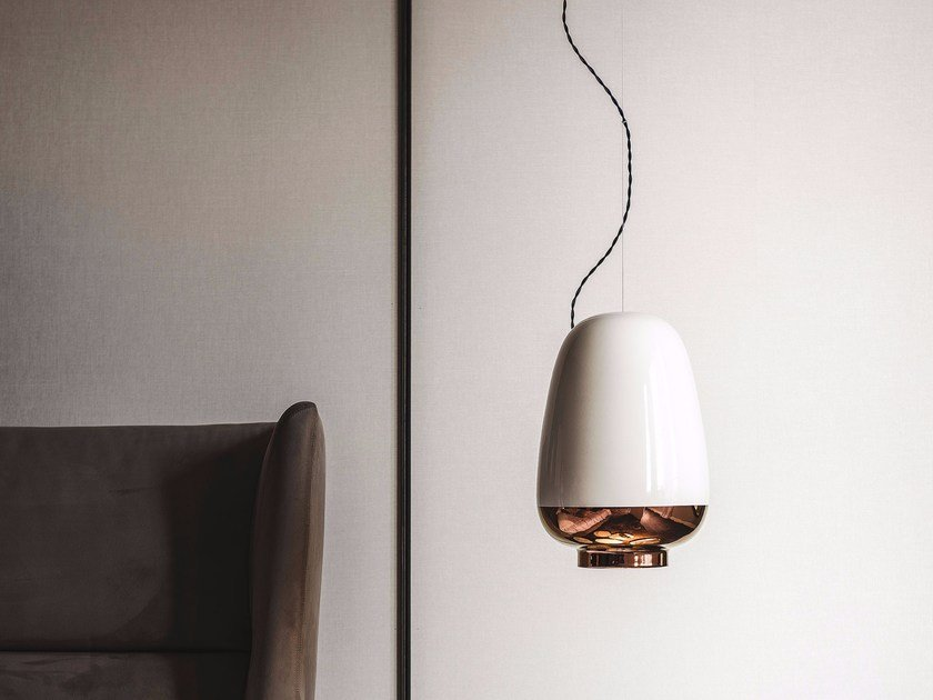 Ceramic pendant lamp ASIA by Cattelan Italia