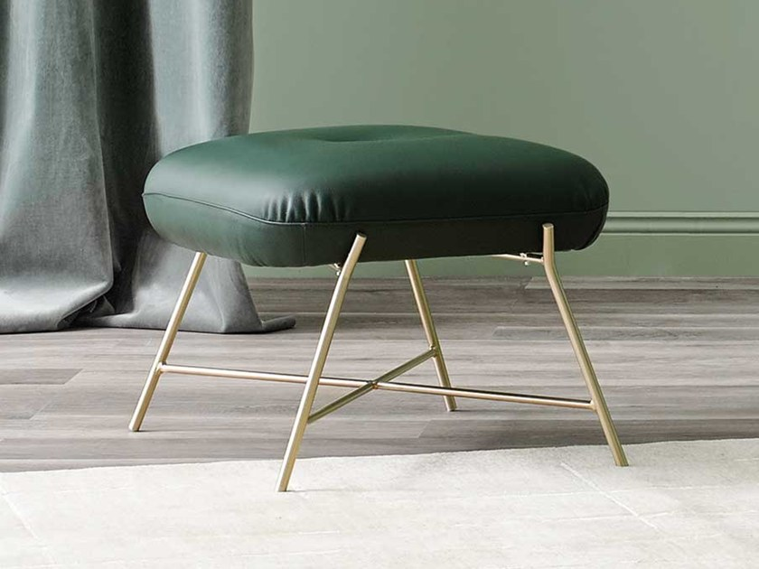 Leather footstool ASIA | Footstool by Paola Zani