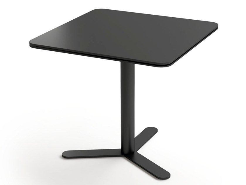 Square MDF table with 3-star base ASPA | Square table by Viccarbe
