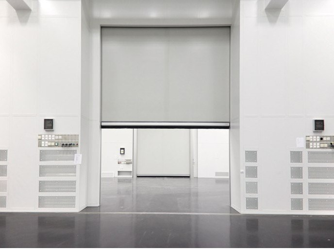 Sectional door ASSA ABLOY cleanroom doors by ASSA ABLOY