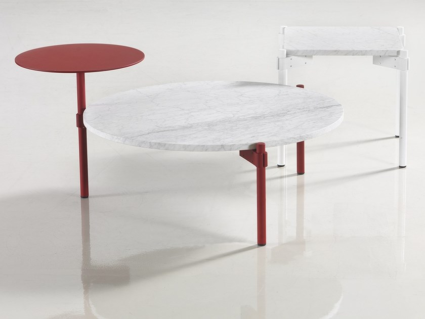 Low metal bistro side table ASSEMBLAGE by Marelli