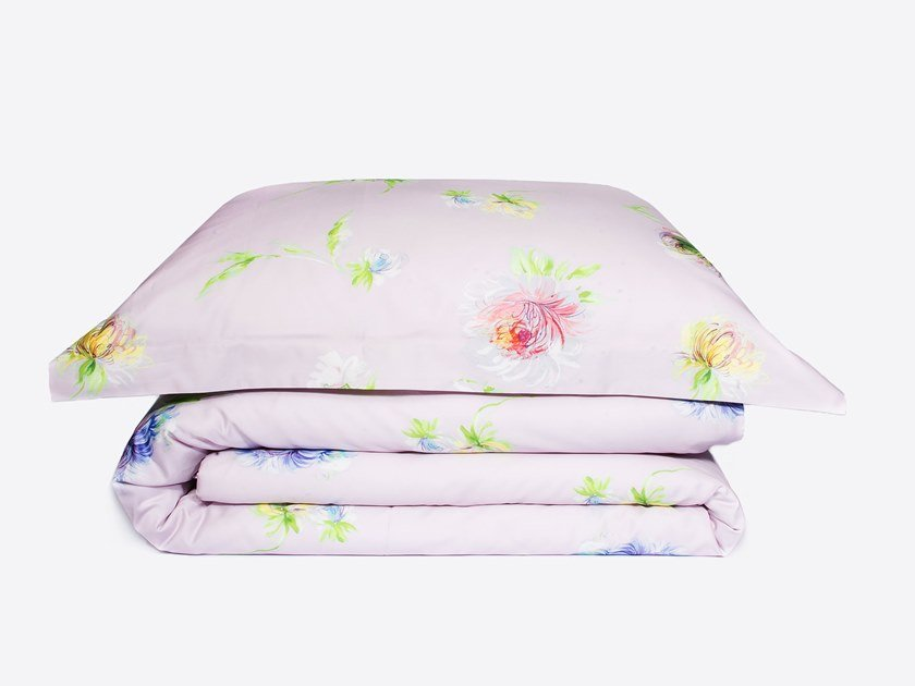 Cotton bedding set with floral pattern ASTER | Bedding set by Decoflux