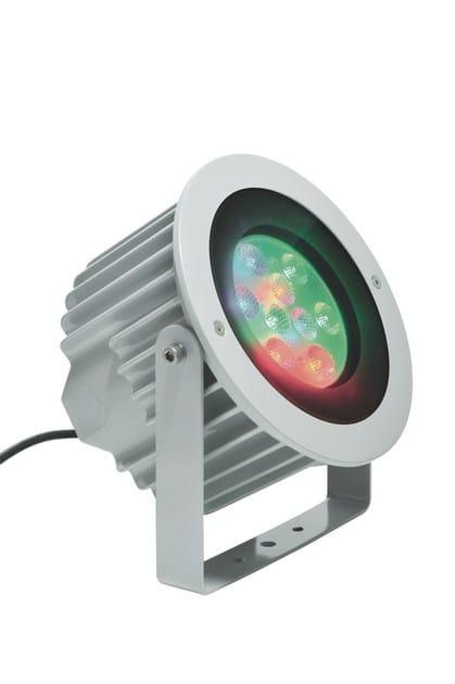 LED adjustable RGB die cast aluminium Outdoor floodlight ASTER F.4078 by Francesconi & C.