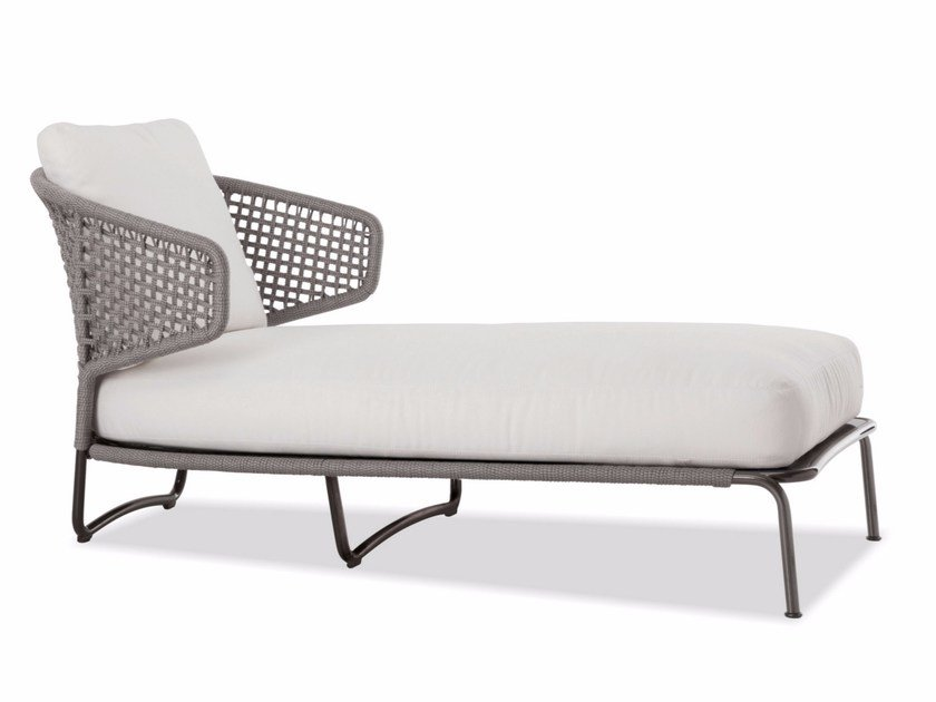 Chaise Longue Aston Cord Outdoor Lounge By Minotti
