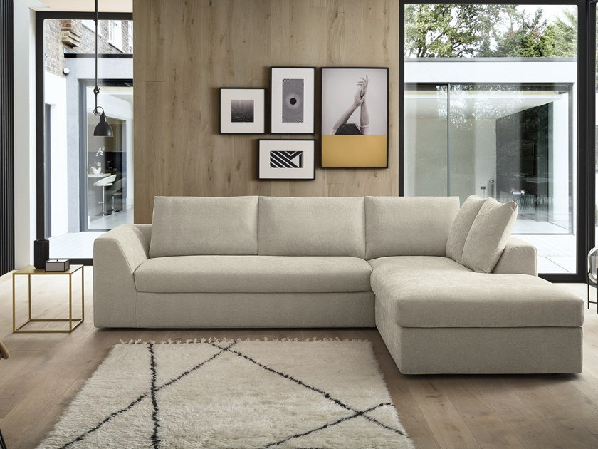 5 seater corner fabric sofa bed ASTON by Felis