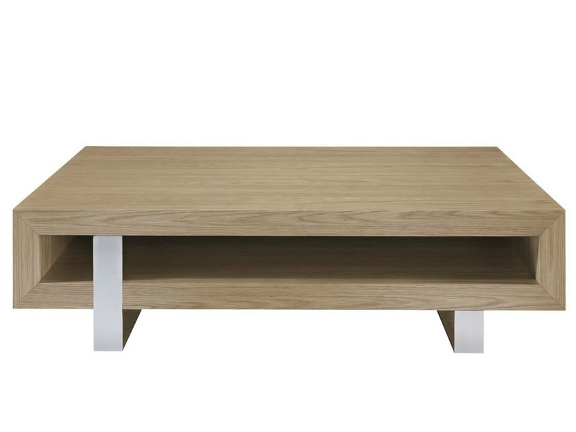 Low wooden TV cabinet with shelves ASTRADA by AZEA