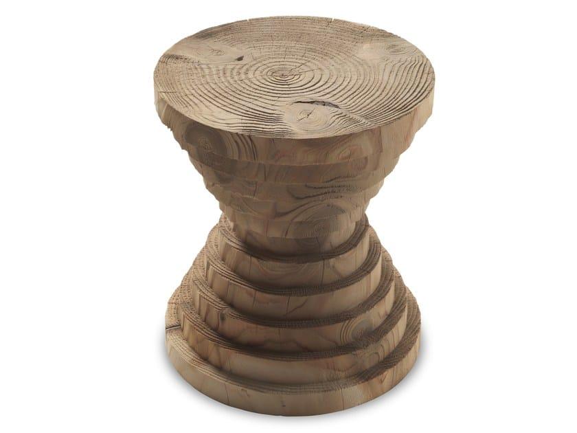 Cedarwood stool ASTRATI by Riva 1920
