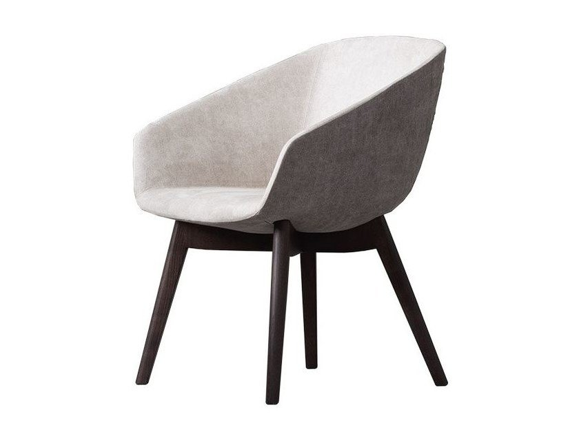 Fabric easy chair with armrests ASTRID by Chaarme
