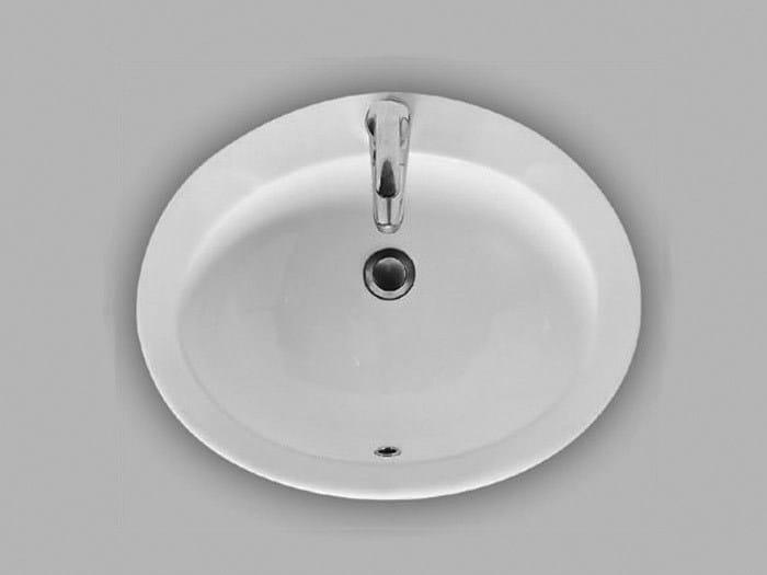 Inset ceramic washbasin ASTRO by Hidra Ceramica
