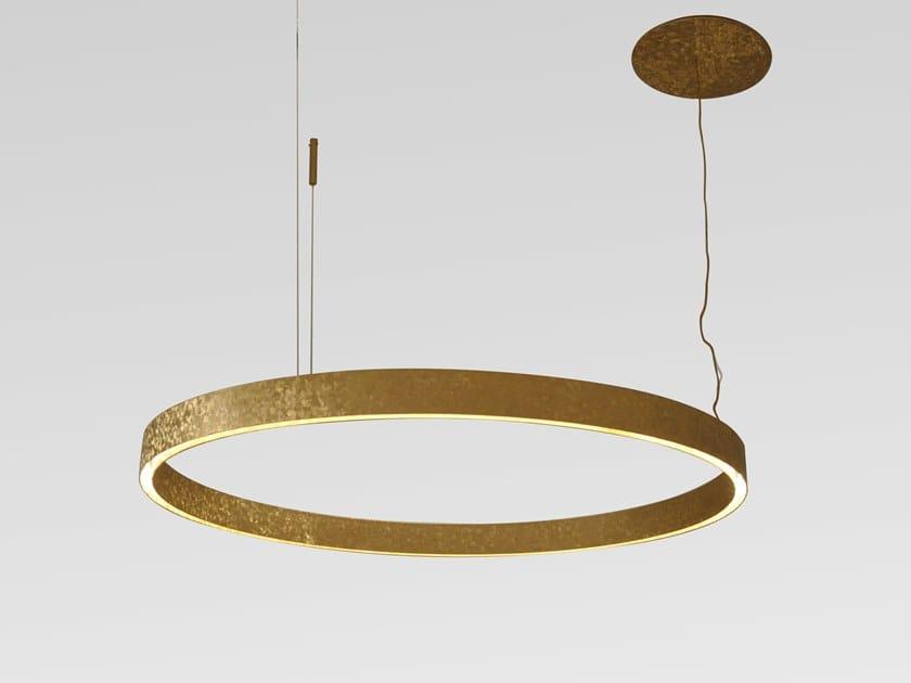Lampada a sospensione a LED a luce diretta in metallo ASTRO by Cornelio Cappellini