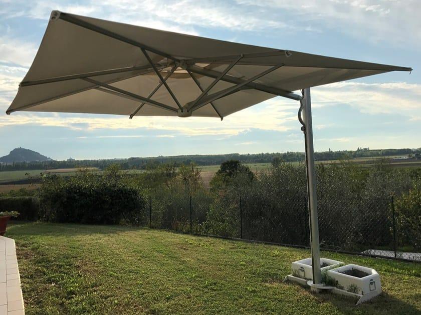 Adjustable offset Garden umbrella ASTRO SPACEGRAY by Scolaro Parasol