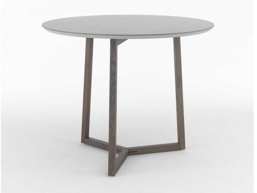 Round table with MDF and ceramic top ASTYLE 98 by I.T.F. Design