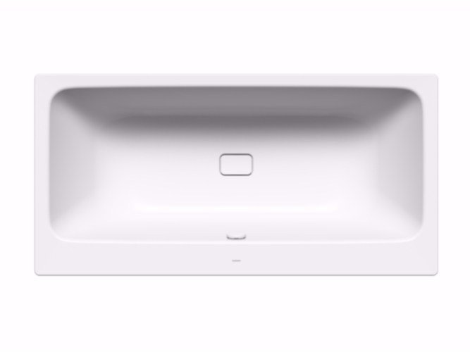 Rectangular enamelled steel bathtub ASYMMETRIC DUO by Kaldewei Italia