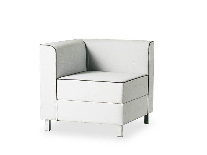Corner upholstered armchair AT LOUNGE | Corner armchair by FANTONI